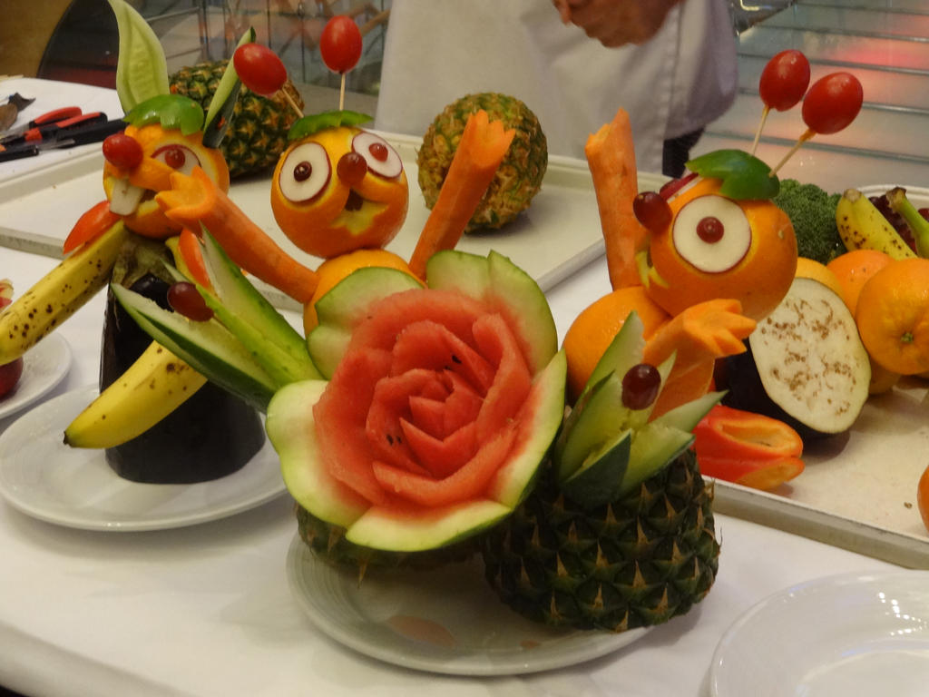 Fruit carvings by pixeice on deviantart