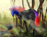 Unicorn Cassowary mix by FancyFairyFox