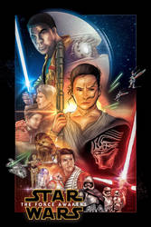 Star Wars Ep.VII: The Force Awakens Fanart Poster