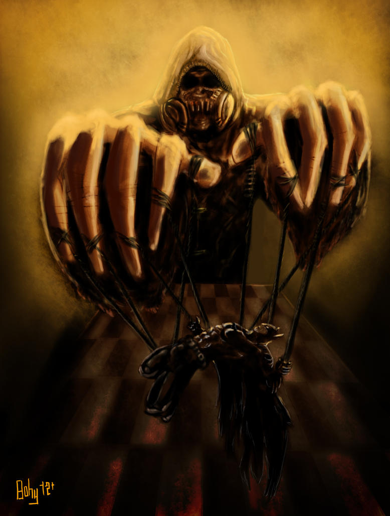 Scarecrow Dark Knight As A Puppet By Bohy On Deviantart