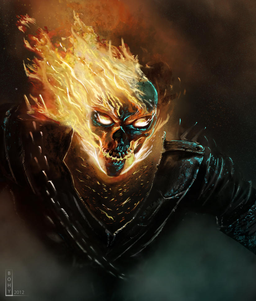 1080x1920 Ghost Rider Artwork HD Iphone 7,6s,6 Plus, Pixel ...  |Ghost Rider Digital Painting Photoshop