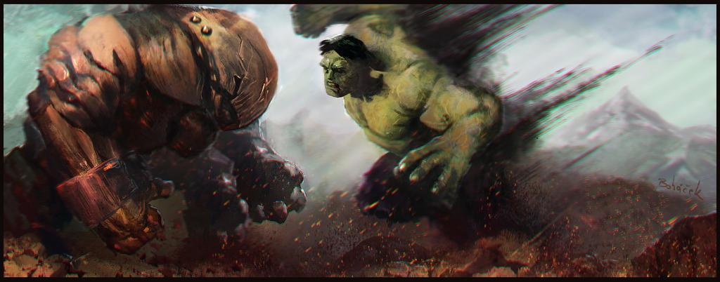 Juggernaut vs HULK by Bohy