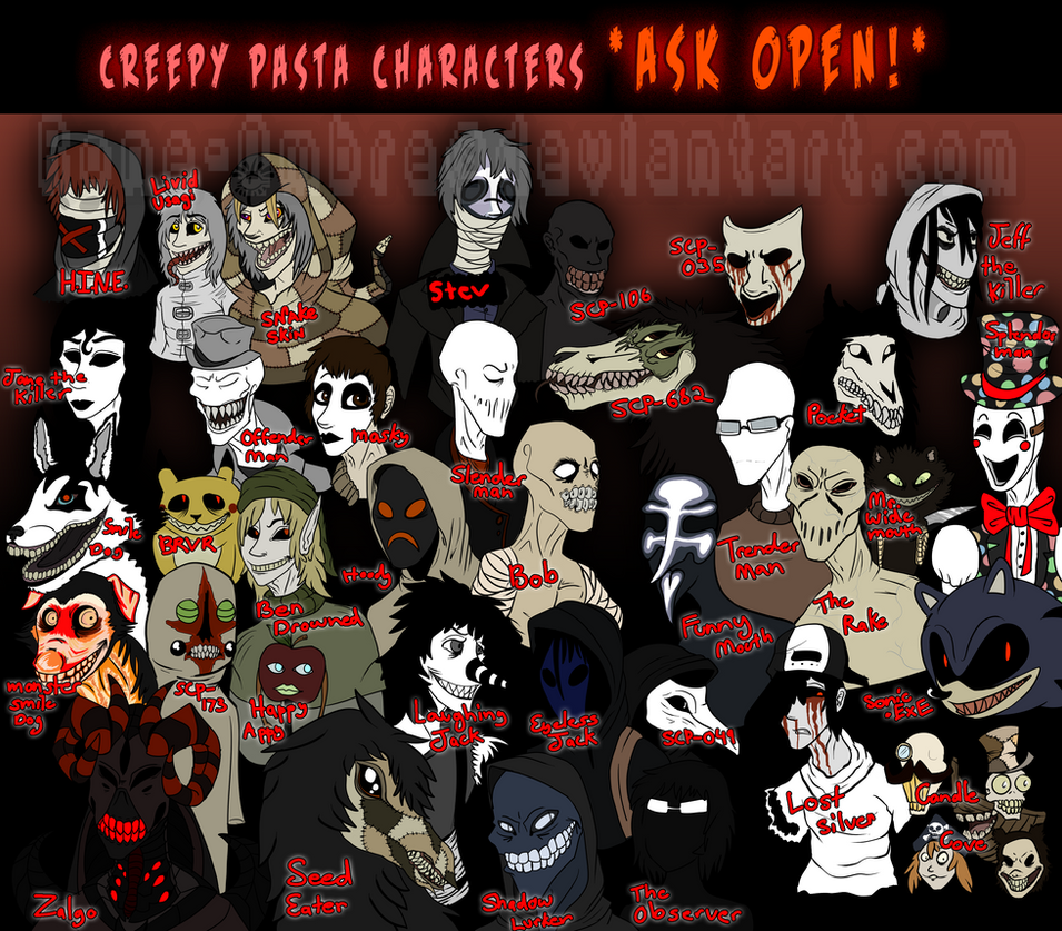 Asks Closed Temporarily Creepypastas And Scps By Askthemcreepies On Deviantart