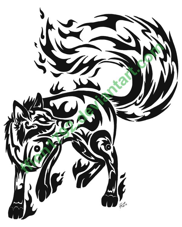 Tribal Tattoo I - Fire Fox by ffion1792