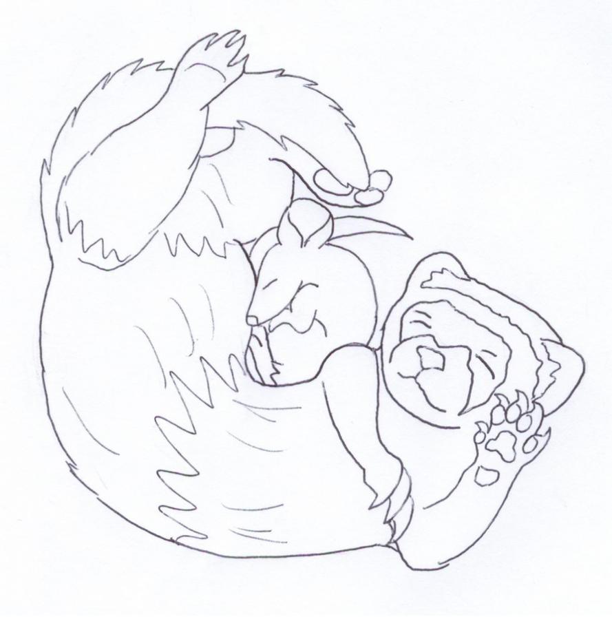 Ferret Cuddle Mouse by Kelaiah