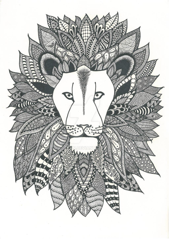 Zentangle Lion By Poreen On DeviantArt