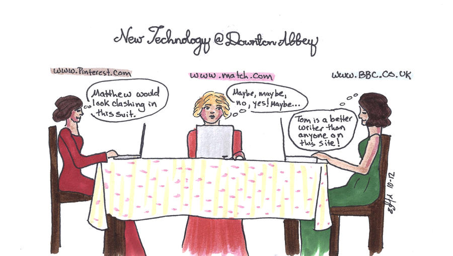 New Technology at Downton Abbey
