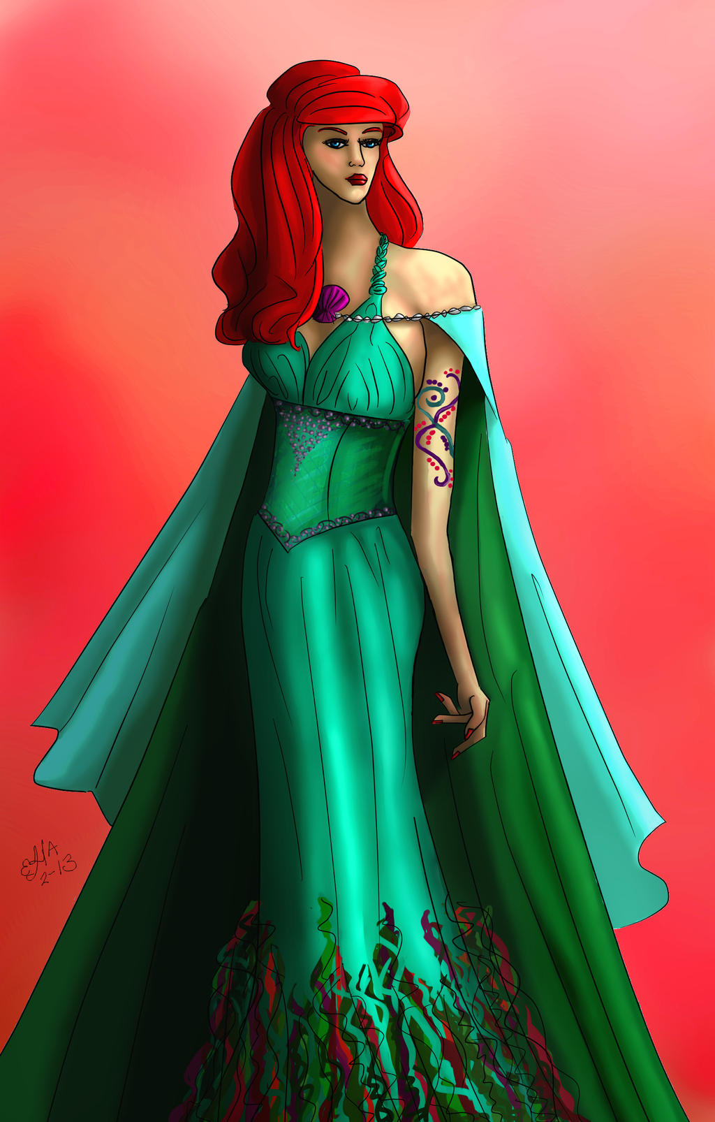 Ariel OUAT Redesign By Elenatintil On DeviantArt