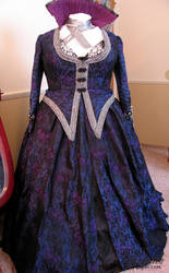 Queen Regina  Purple Apple Dress - Front