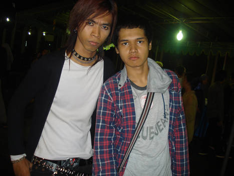 Me posing with one of the cosplayer - part 1