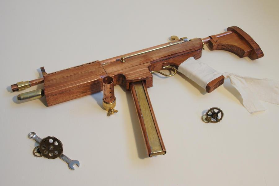 Steampunk Submachine Gun - Shrike Mk. IV by TCFK