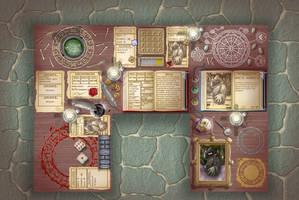 Fighting Fantasy table menu