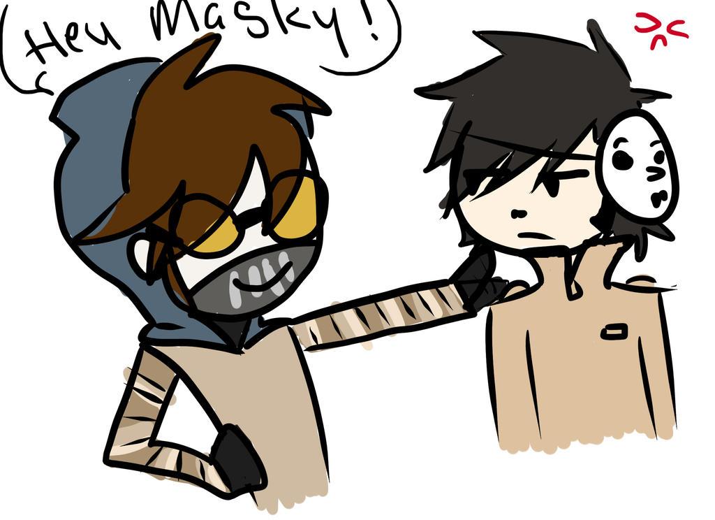 Hey Masky by 15MadyCat