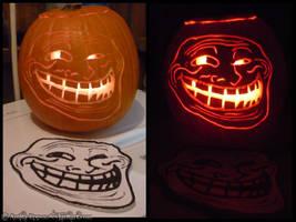 Troll Face Pumpkin