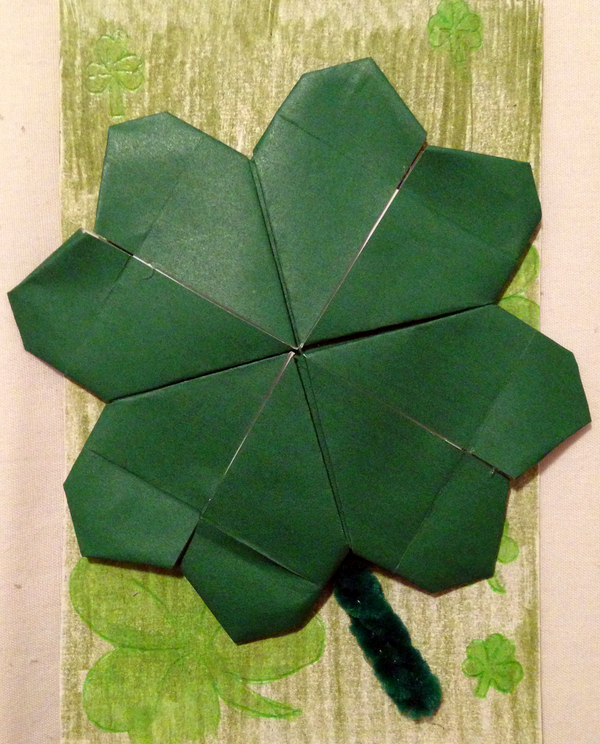 Origami A CLover instructions | Origami, Easy origami flower ... | 744x600