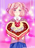 Natsuki: Be my Valentine? | Doki Doki Lit. Club by Sapphire-Skillz