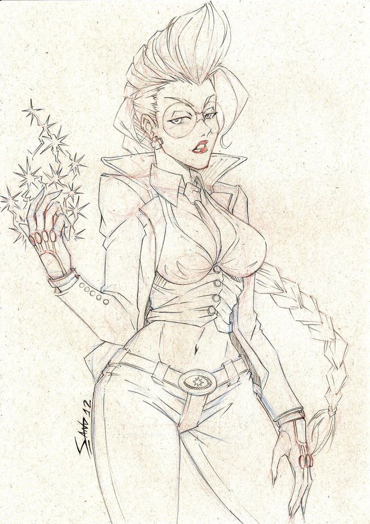 Crimson Viper - Sketch by Sano-BR