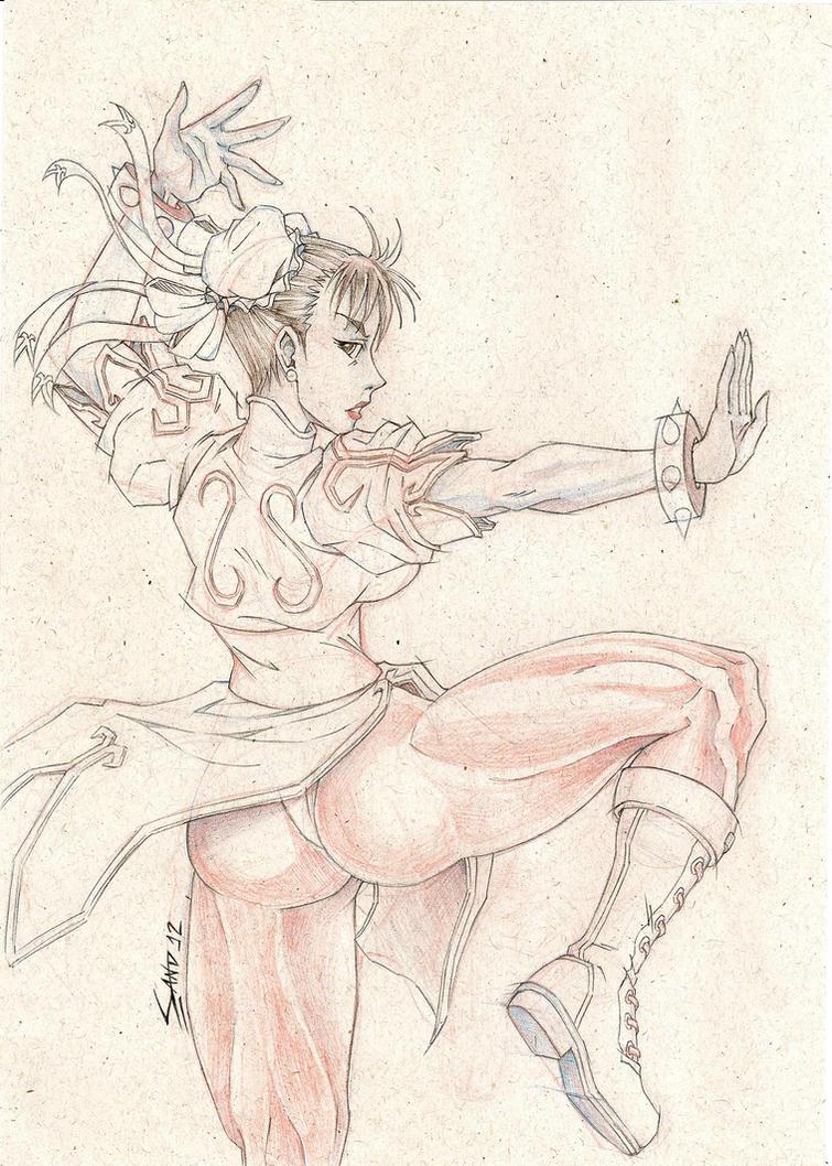 Chun-Li - Sketch 2012 by Sano-BR