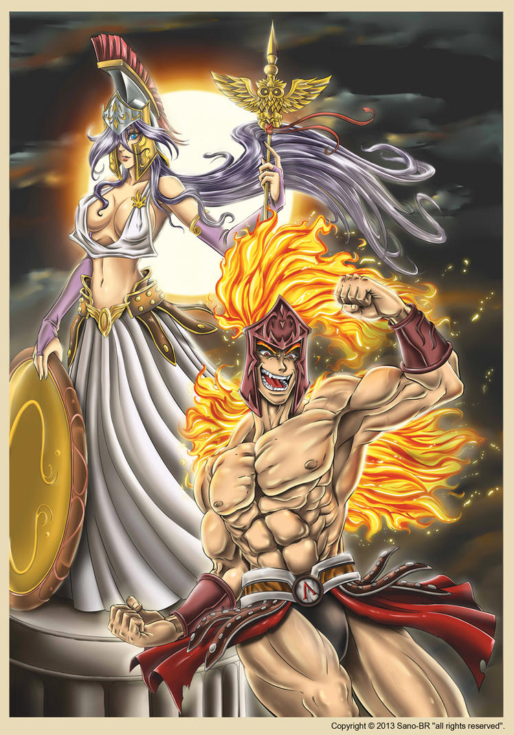 Greek God Ares Drawing Ares and Athena by San...