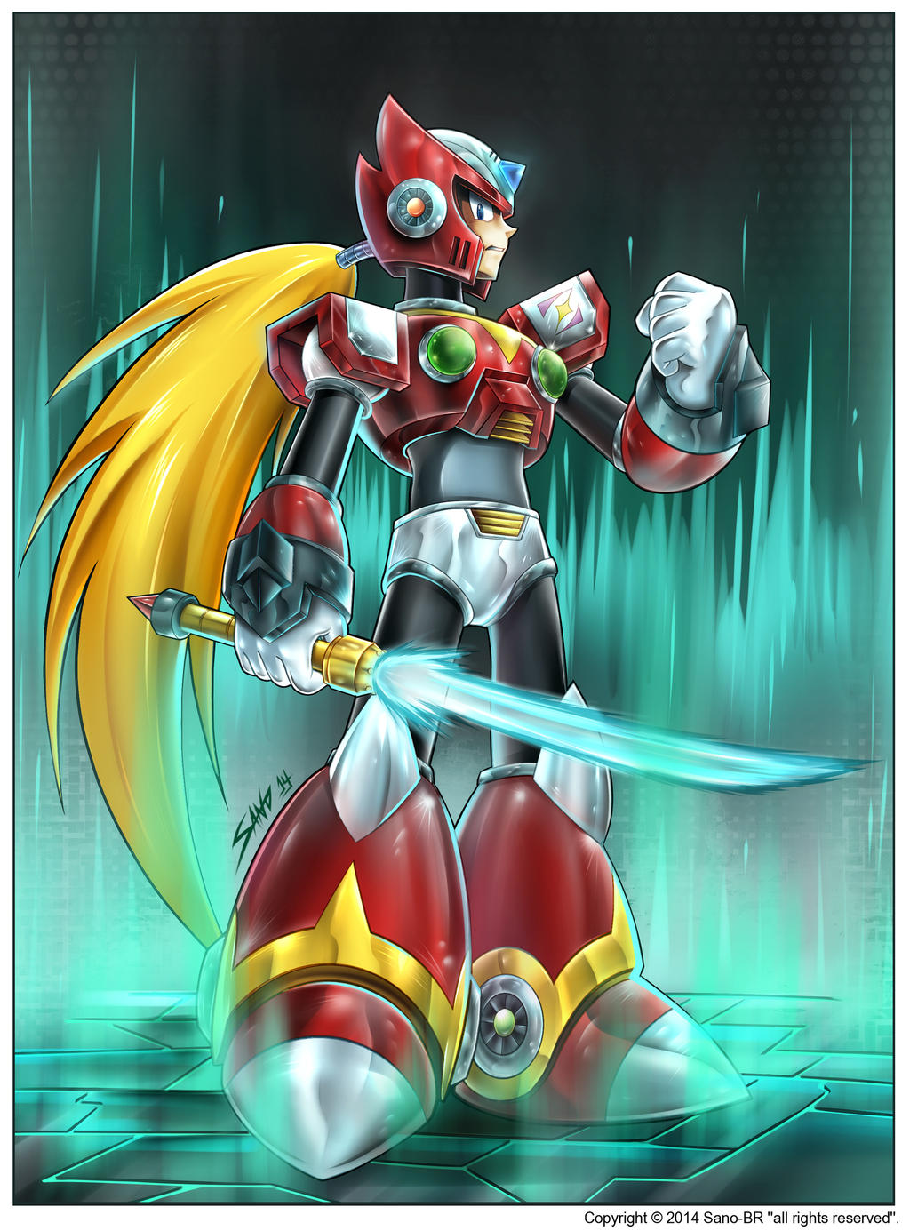 Zero - Megaman X4 by Sano-BR