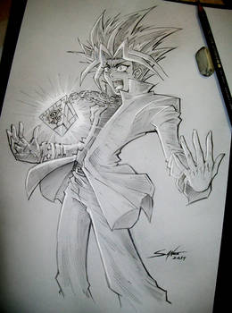 Yugi's Transformation _ Yu-Gi-Oh!_ Sketch