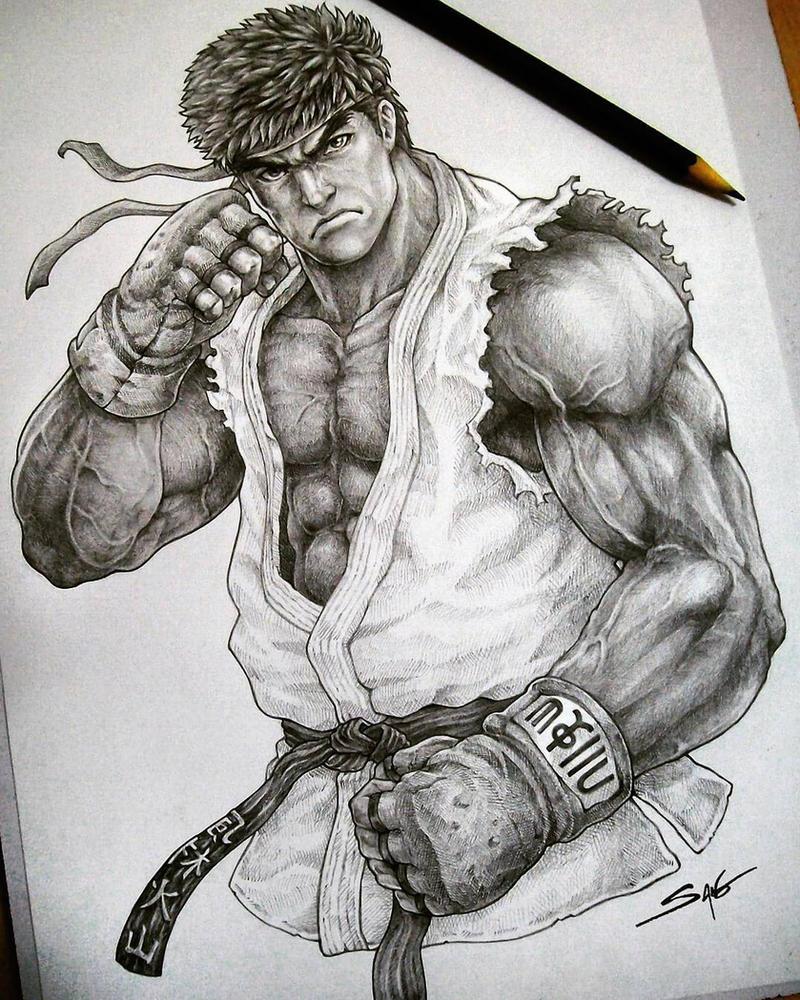 ryu street fighter v tribute by sanobr on deviantart