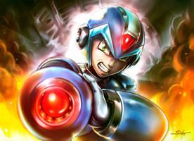 Megaman X _ Fanart 2016 by Sano-BR