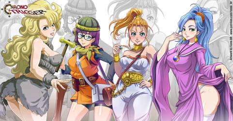 Chrono Trigger - Girls (wallpaper) by Sano-BR