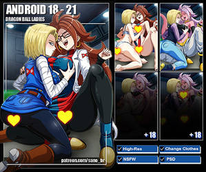 Android 18 and 21 (Dragon Ball FighterZ) PACK by Sano-BR