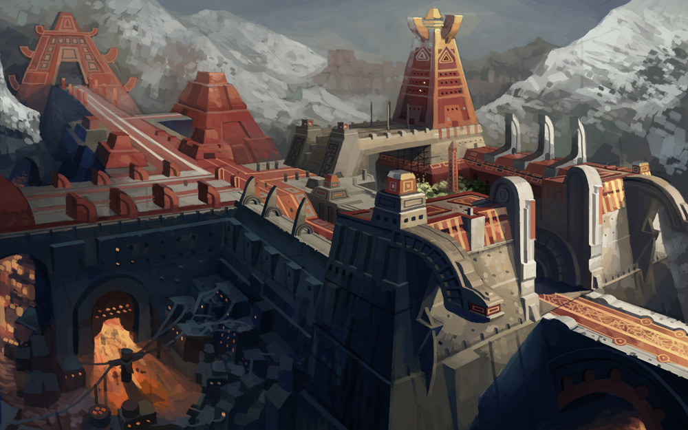 """""""ancient""""  temple by molybdenumgp03"""