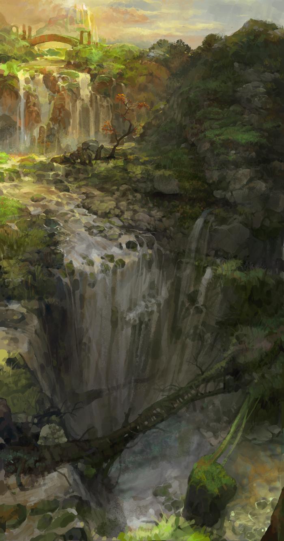 heavenly waterfall