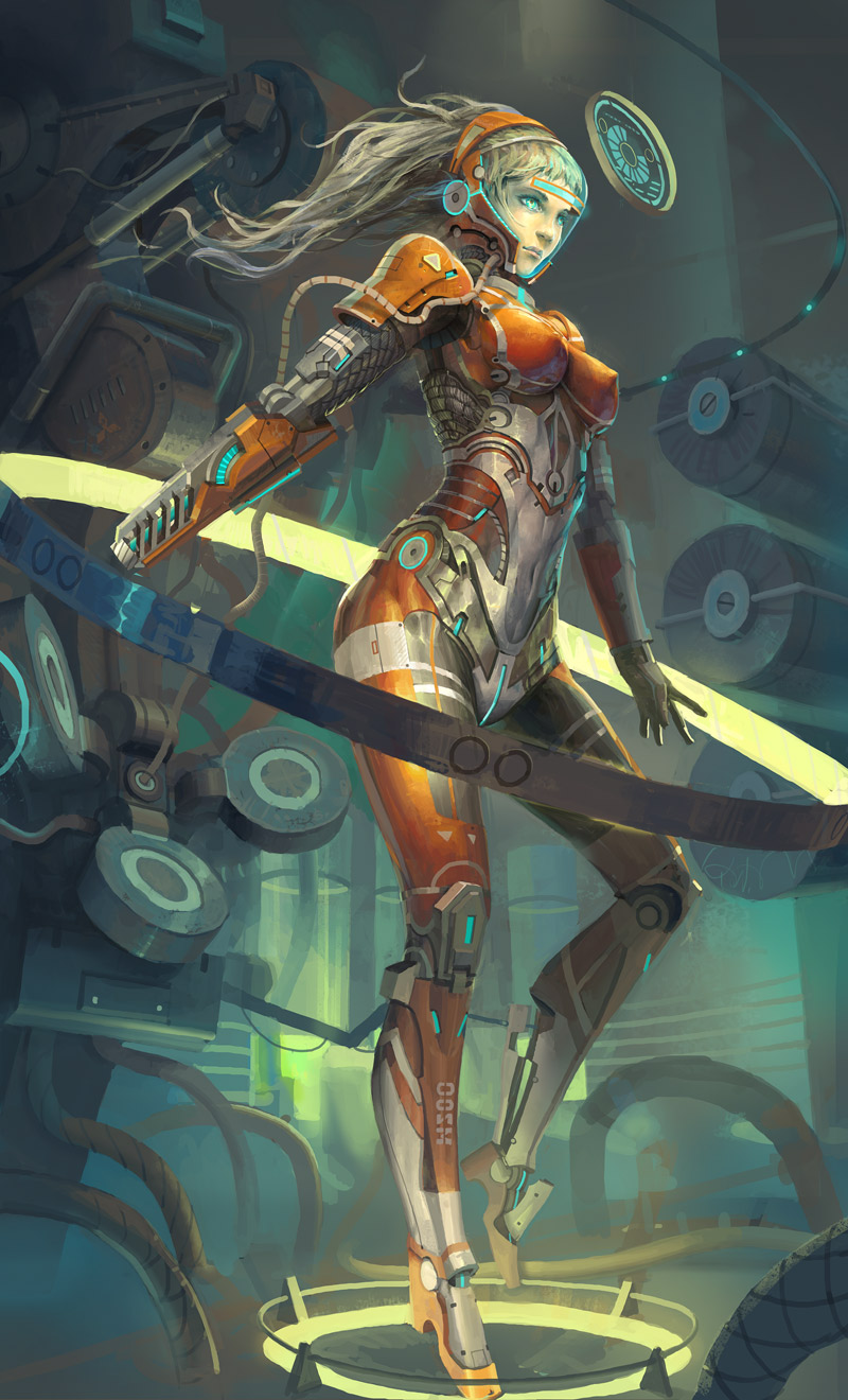 robot girl by molybdenumgp03