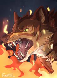 Fire Wolf by Falkarth