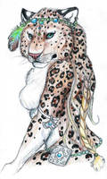 Anthro Leopard ACEO by starwolf303
