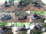 Howling Werewolf Laying Down Sculpture SOLD