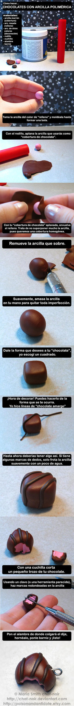 Tutorial - chocolates by HitomiMelissa