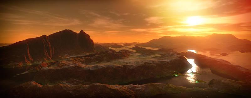 A billion years ago on Mars.
