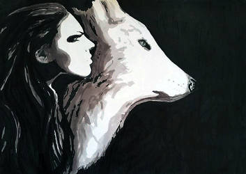 Woman and Wolf by Wilku1000i1