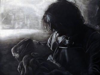 Jon Snow with Ygritte by Wilku1000i1