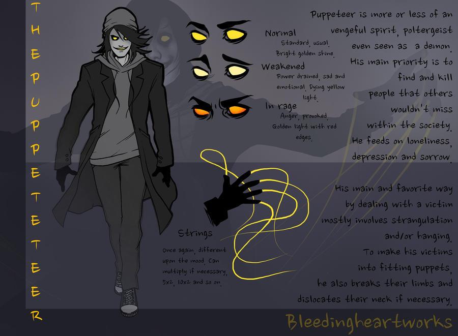Puppeteer character sheet by bleedingheartworks on deviantart