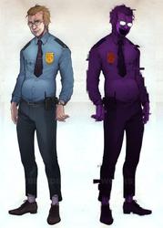 [FNAF: Phone-Purple-Guy] by BleedingHeartworks