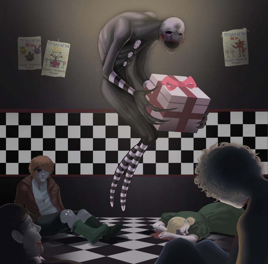 [FNAF:] G I V E G I F T S  (Final Art Exam) by BleedingHeartworks