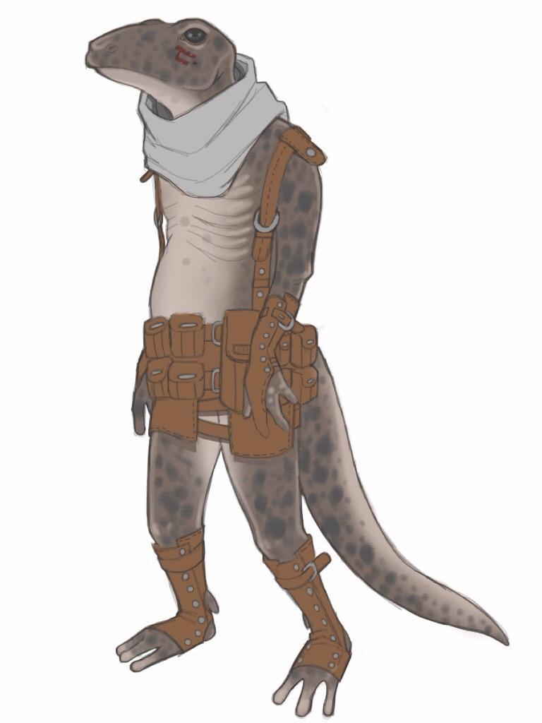 [Dungeon World]: Salamander by BleedingHeartworks