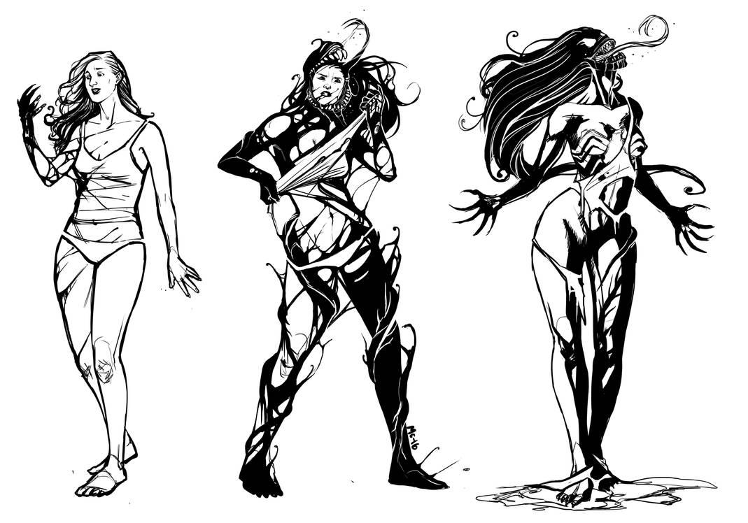 [Commission]: She-Venom Transformation II by