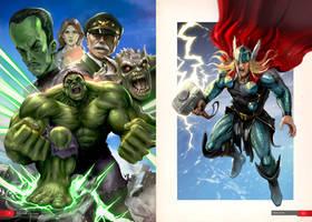 Marvel Superheroes - Fan Art by Mikeypetrov