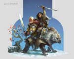 Hodor and Bran - Game of Thrones - Fan art