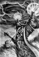 Eldar Warlock by hybridyak