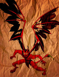 Torn Wings Manticore Gargoyle by gidget-carol