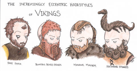 Vikings Hairstyles by Kahlan4