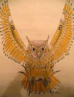 Pencil Owl by LionBolt369
